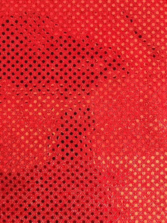 Red Sequin Fabric by the Yard-Clearance-15 yards available