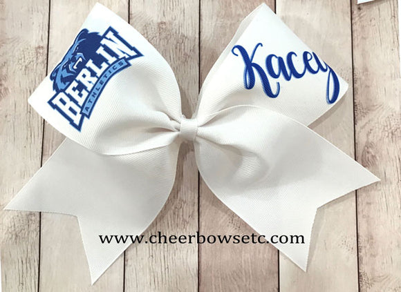 Grosgrain Logo bow with girls name