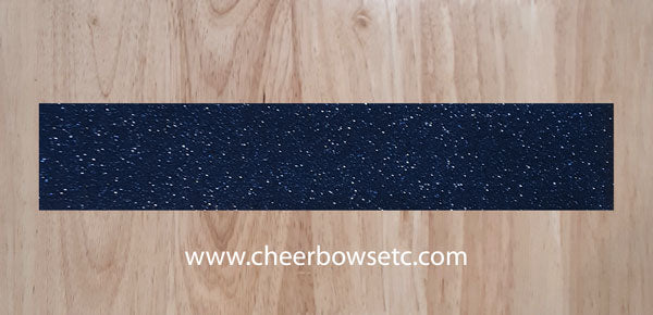 Navy Blue Glitter Strips for bow making