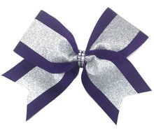 Load image into Gallery viewer, Grosgrain & Glitter Sparkle Cheer Bow