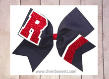 Load image into Gallery viewer, The Big Collegiate Chevron Cheer Bow