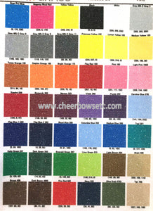 RGB color chart for cheerbowsetc.com bows