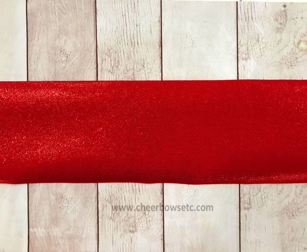 Red Mystique Iron On Hair Bow Making Strip