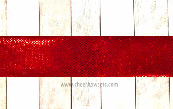 Red Shatterglass Iron On Bow Strips