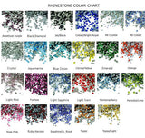Rhinestone Color Chart
