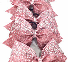 Load image into Gallery viewer, Crystal Frosted Loops Glitter Rhinestone Bow