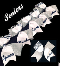 Load image into Gallery viewer, Personalized Tick Tock Senior 2019 Glitter Bow