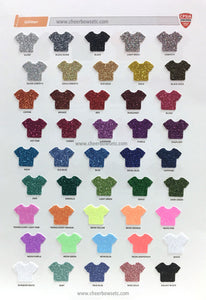 Glitter Color Chart for cheer bows