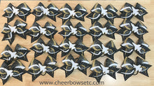 Load image into Gallery viewer, Custom Team 3D Center Infinity Rhinestone Bow