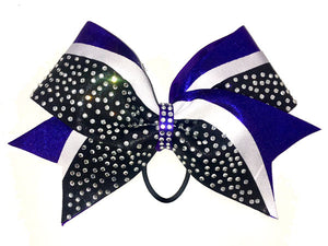 Purple Unstoppable cheerleading bow