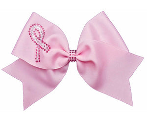 rhinestone awareness ribbon bow