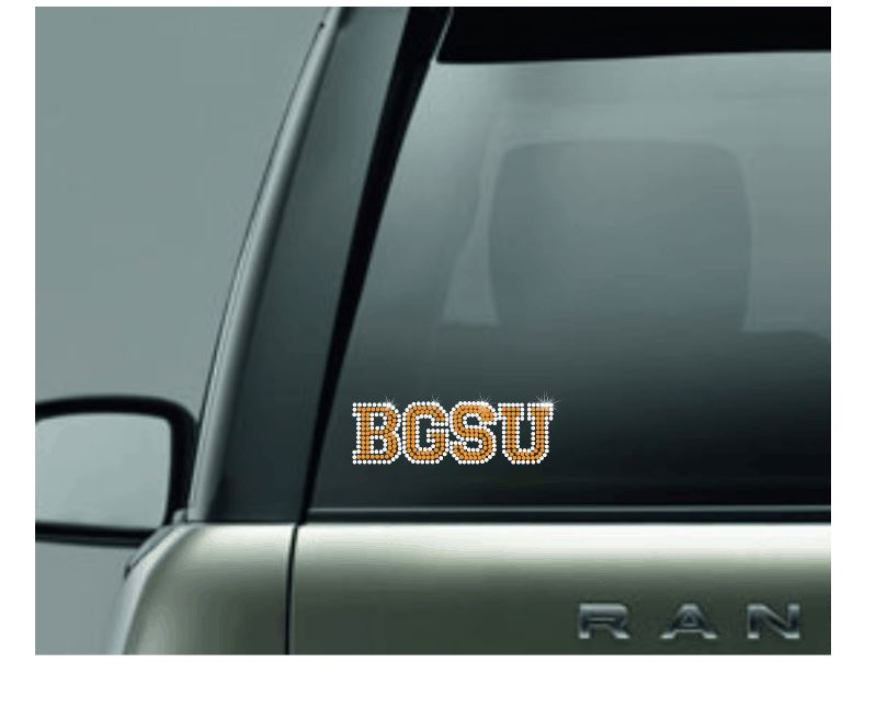 Collegiate Font Rhinestone Hard Surface Decal