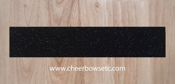 Black  Pre-Cut Cheerleading Bow Strips
