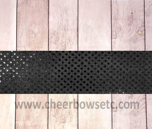 Iron On Black Sequins Bow Strip