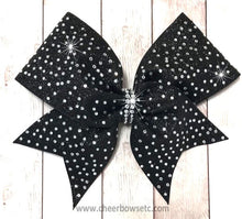Load image into Gallery viewer, Black glitter Stardust Bow