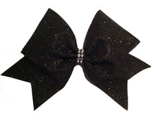 Load image into Gallery viewer, Black Glitter Bow