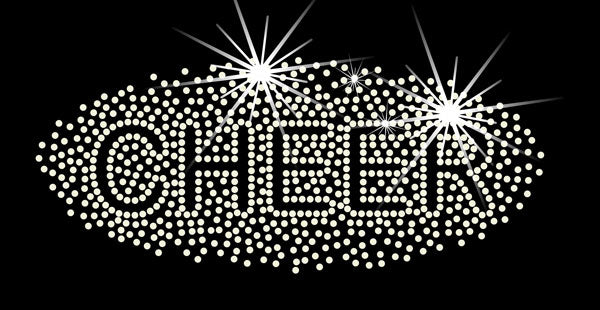 Cheer Sparkle Rhinestone Heat Transfer