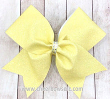 Load image into Gallery viewer, Sparkly Glitter Cheer Bow | Choose your color