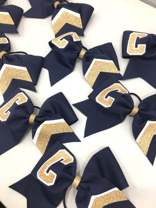 The Big Collegiate Chevron Cheer Bow
