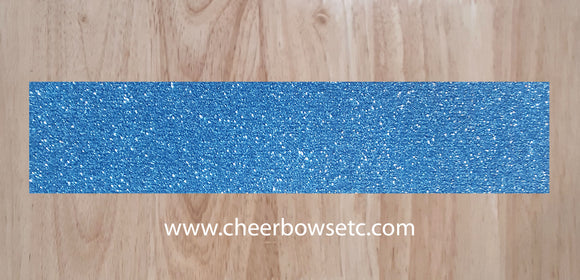 Columbia Blue Pre Cut Cheer Bow Strips
