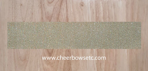 Hologram Gold Confetti Pre-Cut Cheerleading Bow Strips