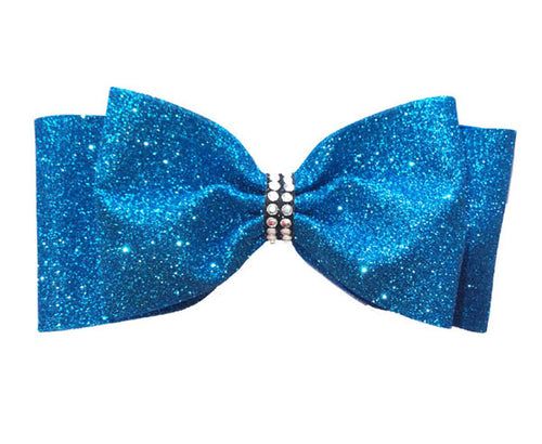 The Isabelle Double Glitter Tailless Bow
