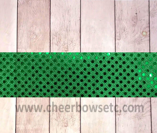 Emerald Sequins Iron On Bow Strip