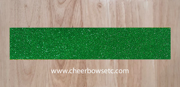 Kelly Green/Emerald Pre-Cut Cheerleading Bow Strips