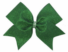 Load image into Gallery viewer, Grass-Emerald Green Glitter Bow