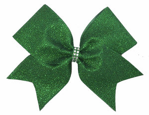 Grass-Emerald Green Glitter Bow