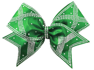 power x rhinestone bow emerald