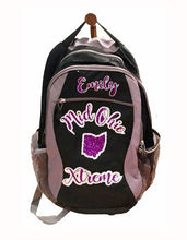Load image into Gallery viewer, Personalized Cheerleading Backpack