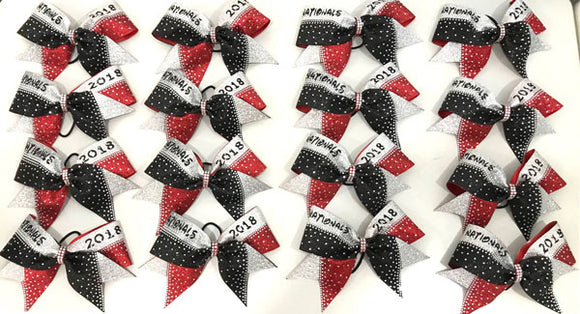 Pristine Kristine Nationals Cheerleading Competition Bow