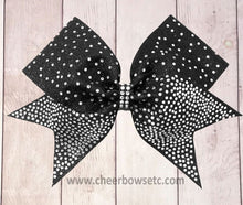 Load image into Gallery viewer, Fin Tail Cheer Bow Black