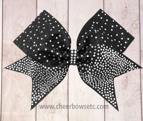 Fin Tail Cheer Bow Black