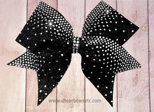 Black Fish Tail Rhinestone Bow