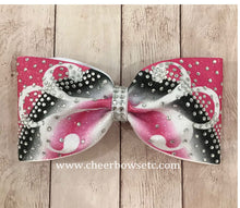 Load image into Gallery viewer, Hot Pink Fleuris Cheerleading Hair Bow