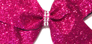 Double Grosgrain Fuchsia Awareness Ribbon Bow