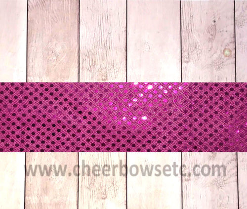 Fuchsia Sequins Bow Making Strip