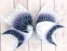 Load image into Gallery viewer, Purple Gigi cheerleading hair bow