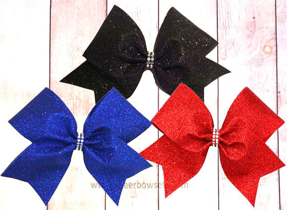 Sparkly Glitter Cheer Bow | Choose your color