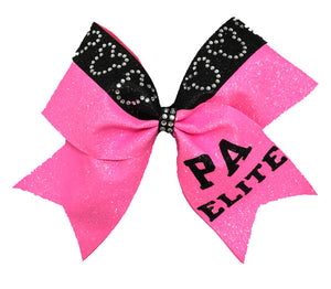 Hot Pink Mickey Bow with team name