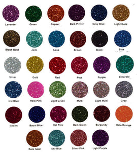 Glitter Flex Ultra Color Chart