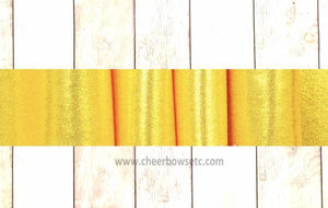 "Gold Chartreuse Mystique 3"" X 28"" Iron On Bow Strips"