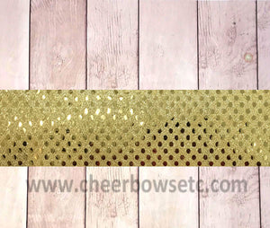 Gold Sequins Iron On Bow Strip