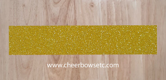 Gold Glitter Pre Cut Cheer Bow Strip