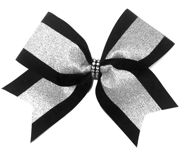 Grosgrain & Glitter Sparkle Cheer Bow