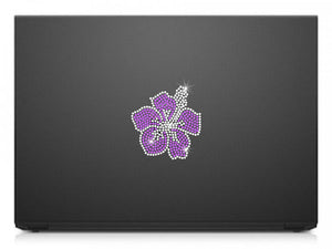 purple hibiscus decal
