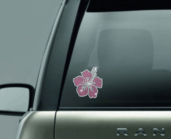 hot pink hibiscus decal