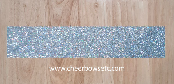 Hologram silver glitter strips for cheer bows